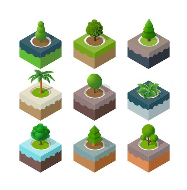 自然公園の都市景観 Premiumベクター