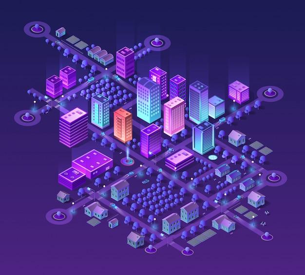 Набор фиолетовых цветов Premium векторы
