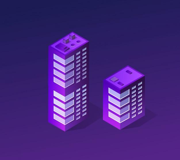 紫外線のスマートシティ Premiumベクター