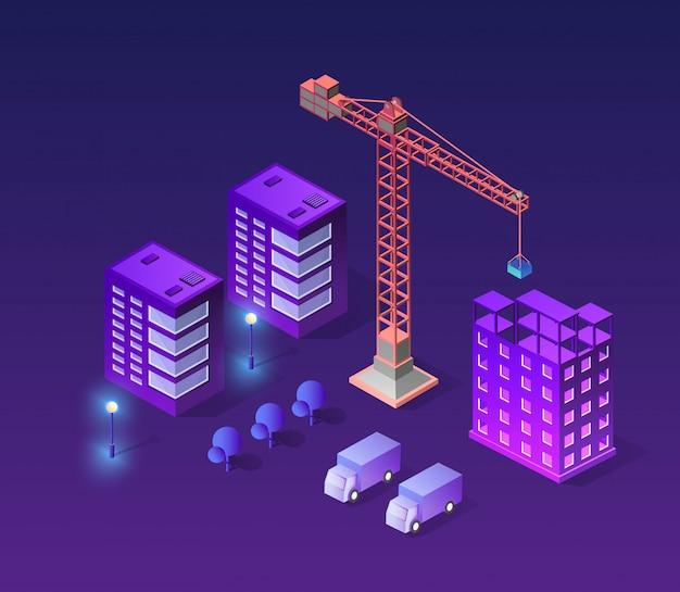 工業都市ビル Premiumベクター