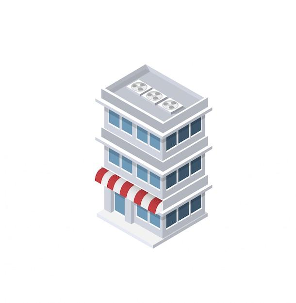 Изометрический дом городской Premium векторы
