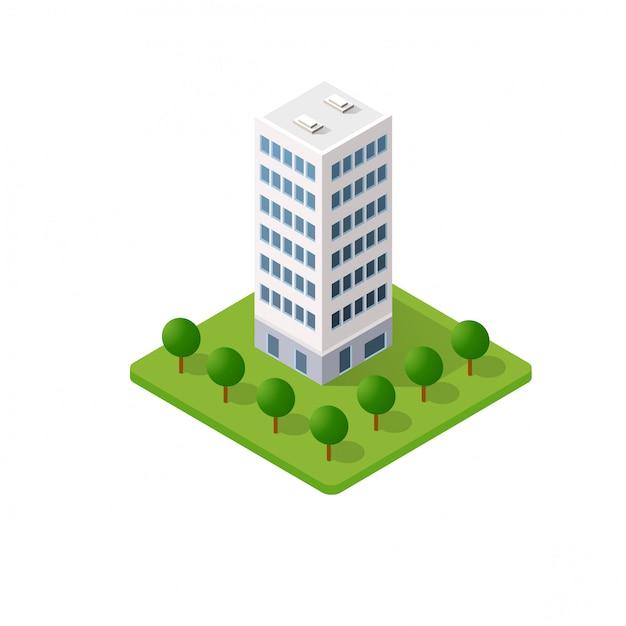 Умное здание дома Premium векторы