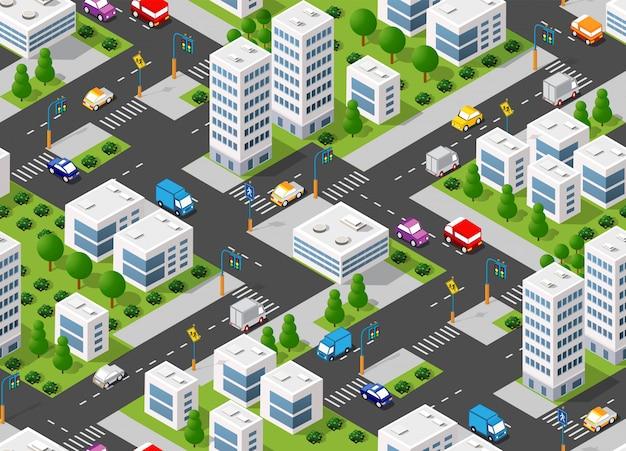 シームレスな都市計画 Premiumベクター
