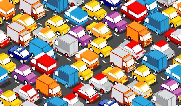 Изометрическая зона городского автомобиля Premium векторы