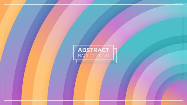 Красочный круг абстрактный фон Premium векторы