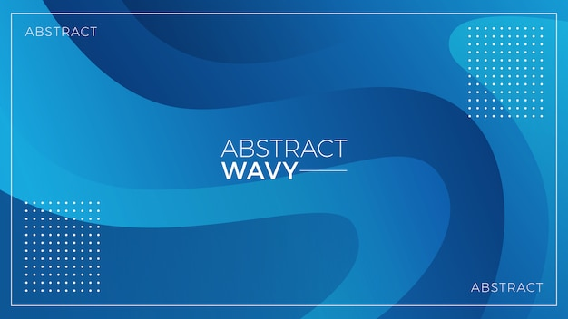 青い波状の抽象的な背景 Premiumベクター
