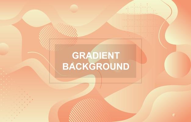 カラフルなグラデーション流体液体動的形状の背景 Premiumベクター