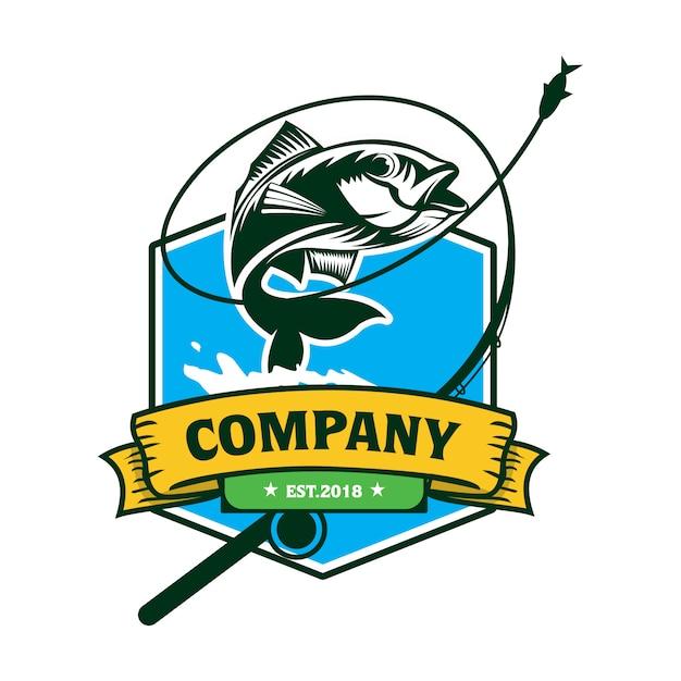 釣りのロゴ Premiumベクター