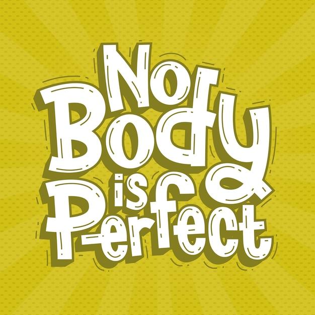 Нет тела идеально подходит надписи каракули рисованной Premium векторы