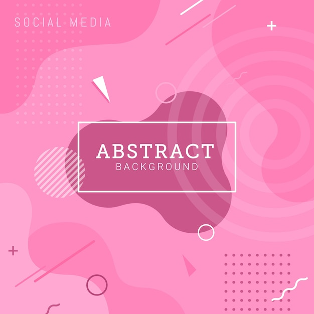 Социальные медиа размещают шаблон абстрактный фон Premium векторы