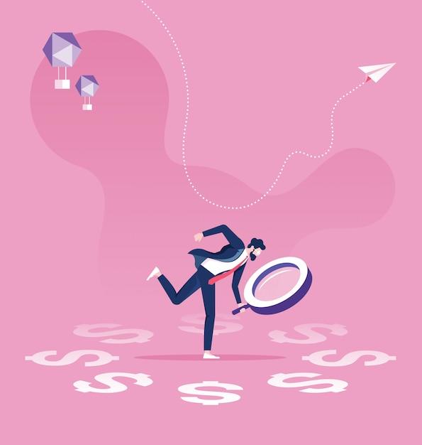 ビジネス財務監査の概念 Premiumベクター