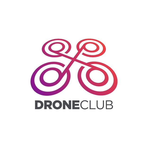 ドローンクラブのアイコンデザイン Premiumベクター