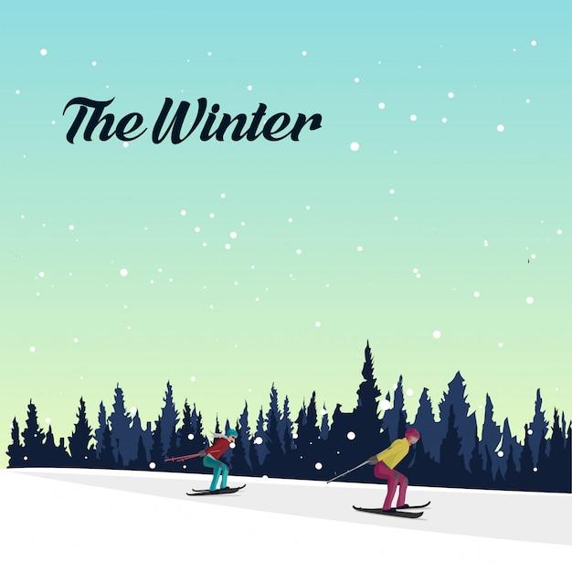 Зима Premium векторы