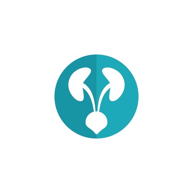 現代の泌尿器科医療ロゴ Premiumベクター