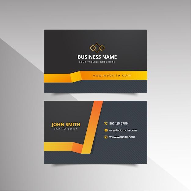 Шаблон визитной карточки Premium векторы