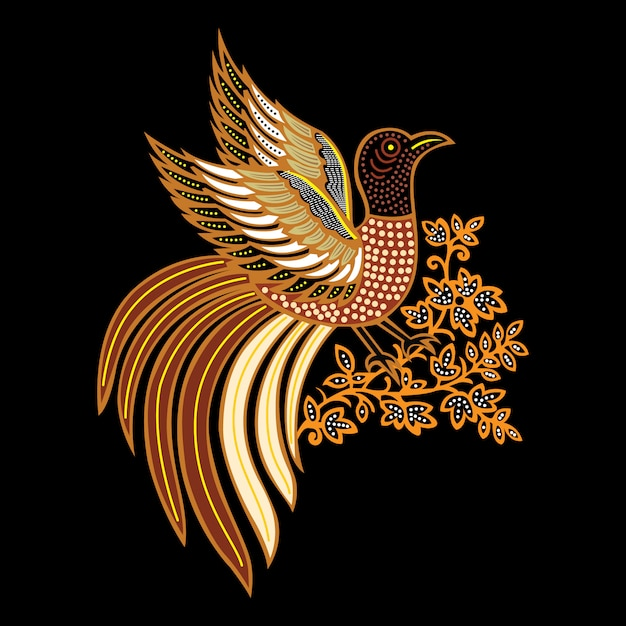 Батикская птица Premium векторы