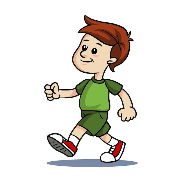 Картинка для детей идущий человек