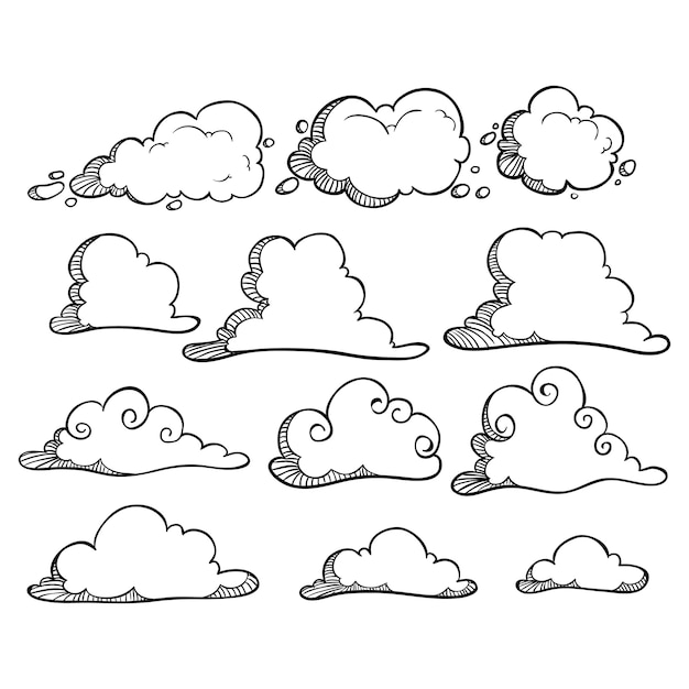 прикольные облака рисунок пространству