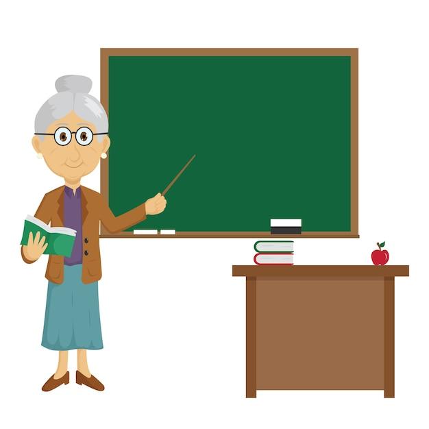 Старая учительница картинка рисованная