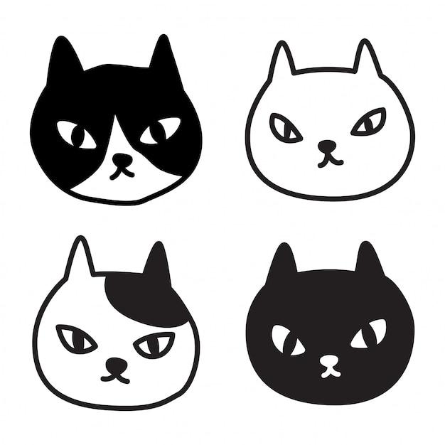 Мультфильм котенок Premium векторы