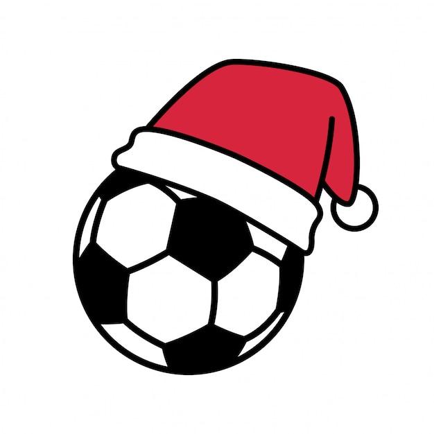 サッカーボールサッカークリスマス Premiumベクター