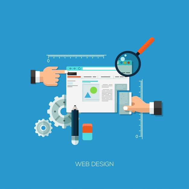Плоский дизайн векторные иллюстрации концепции для веб-дизайна Premium векторы