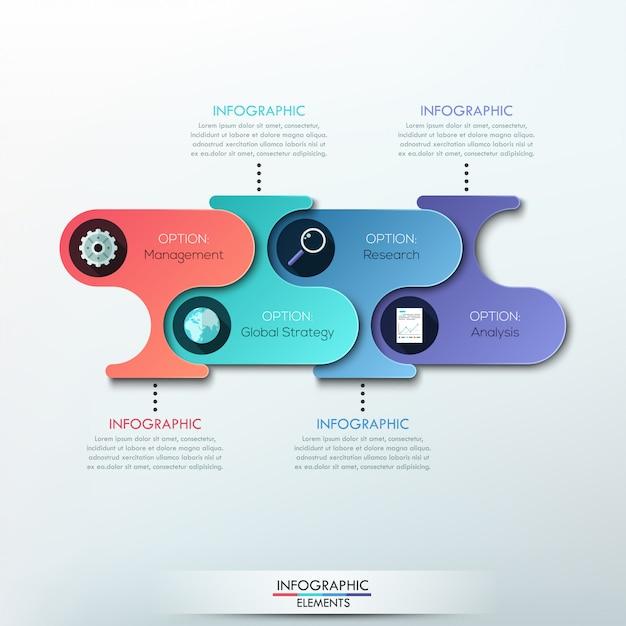 Современная бумага инфографика варианты баннеров Premium векторы