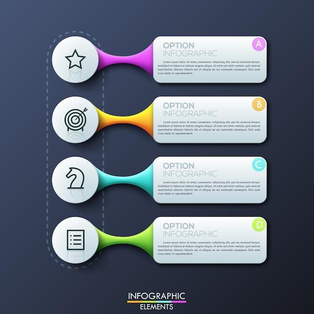 Современный инфографический шаблон дизайна Premium векторы