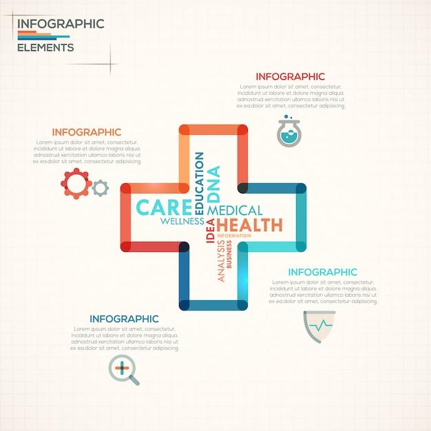 Шаблон шаблонов медицинской инфографики Premium векторы