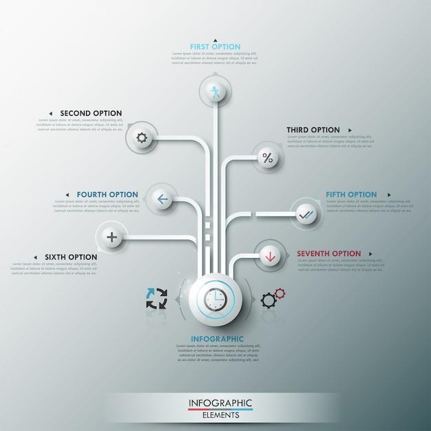 現代のインフォグラフィックオプションバナー Premiumベクター