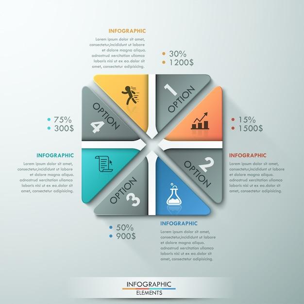 Современный инфографический шаблон процесса Premium векторы