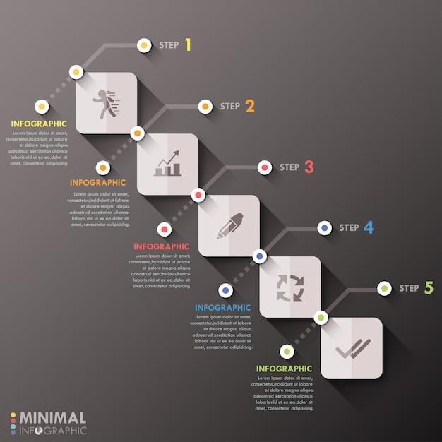 Минимальная инфографика Premium векторы