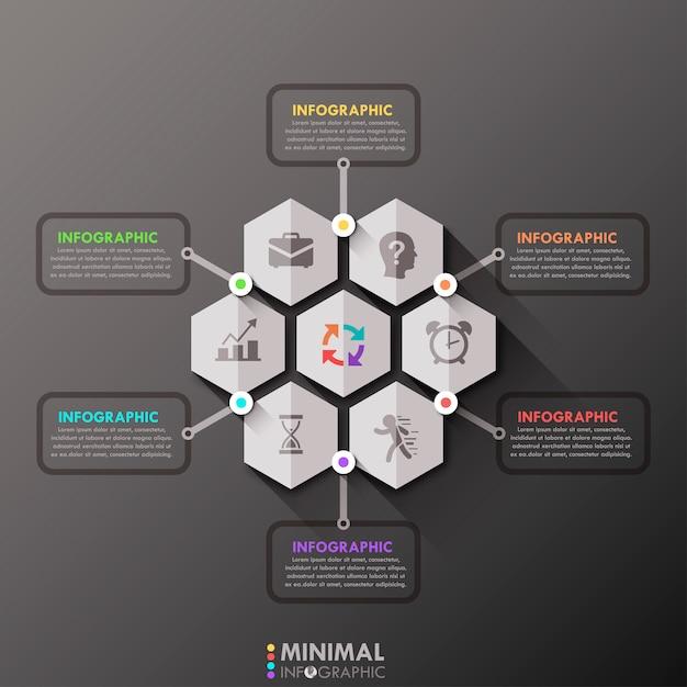 Шаблон минимальной инфографики Premium векторы