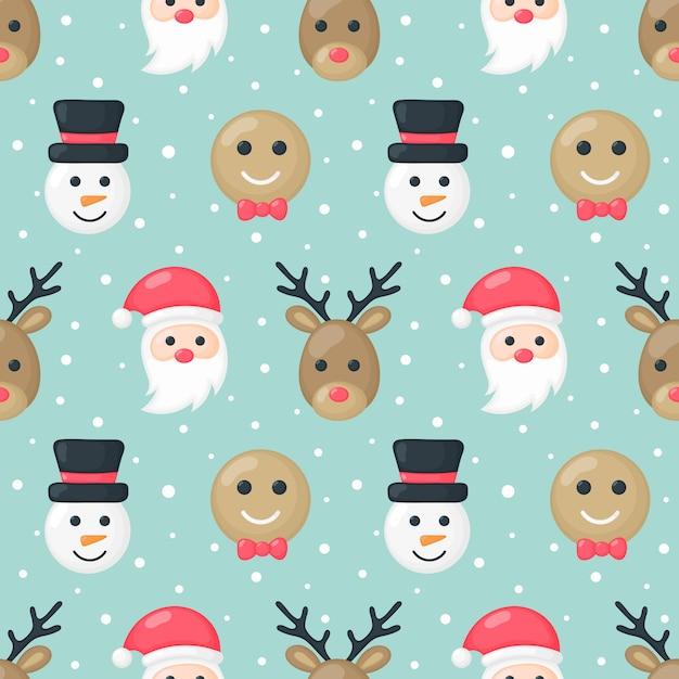 クリスマス文字のシームレスパターン Premiumベクター