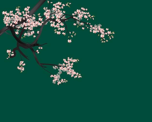 水彩桜フレーム Premiumベクター