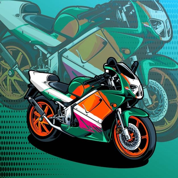オートバイ Premiumベクター
