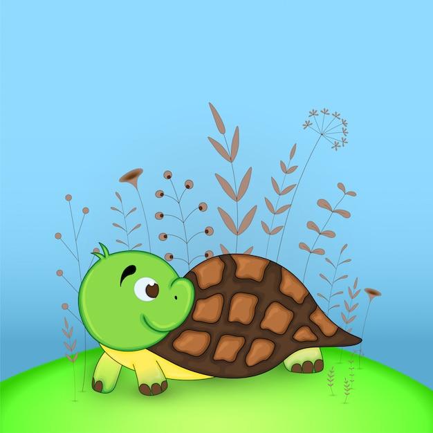 Черепаха открытка, китай годы открытки