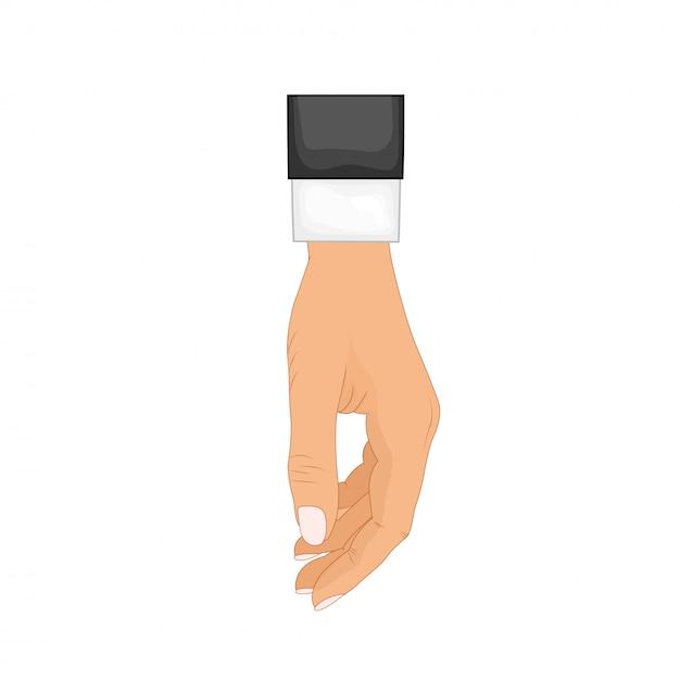 Рука в позе. мужская или женская рука в мультяшном стиле Premium векторы