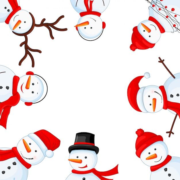 写真のクリスマスフレーム Premiumベクター