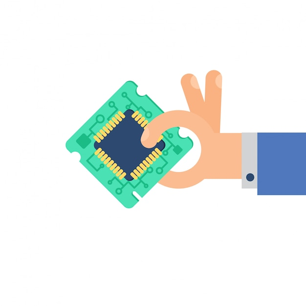 コンピュータプロセッサチップ Premiumベクター
