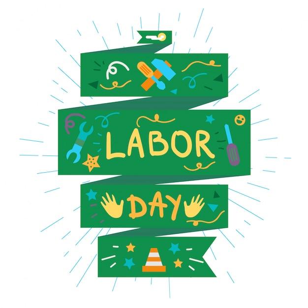 労働者の日 Premiumベクター