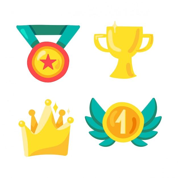 スポーツの賞と勝者のシンボル Premiumベクター