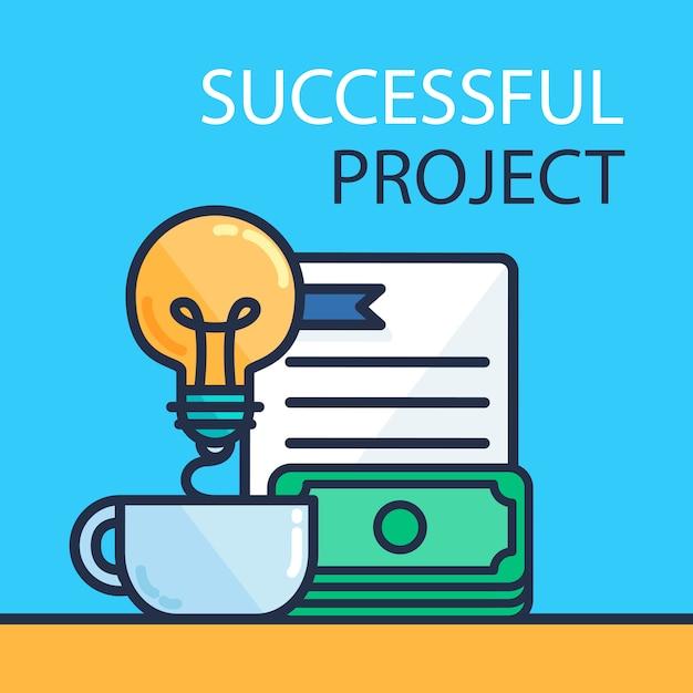 成功するプロジェクトコンセプト Premiumベクター