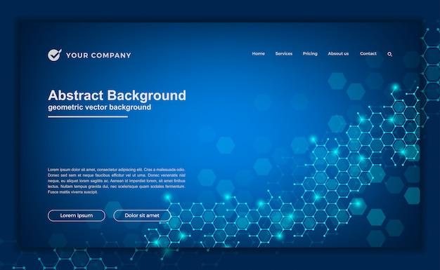 Составные фон для вашего сайта или целевой страницы. Premium векторы