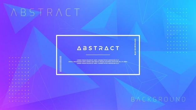 モダンな青い三角形の背景。 Premiumベクター