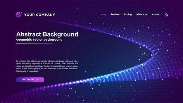 未来的な技術のウェブサイトの背景。 Premiumベクター