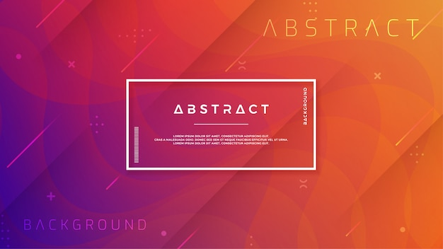 抽象的なモダンでダイナミック、トレンディなグラデーションの背景 Premiumベクター