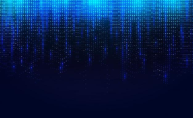 落下する発光粒子の背景。 Premiumベクター