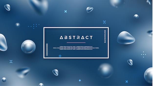 抽象的なブルーの背景 Premiumベクター