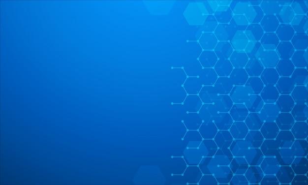 化学物質のバックグラウンド Premiumベクター